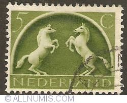 Image #1 of 5 Cent  1943 - German Symbols - Prancing Horses