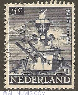 Image #1 of 5 Cent 1944 - Liberation - H.M.S. De Ruyter