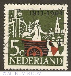 Image #1 of 5 Cent 1963 - 150th Anniversary of Independence