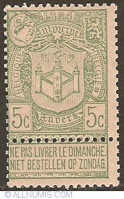 Image #1 of 5 Centimes 1894 - World Expo Antwerp