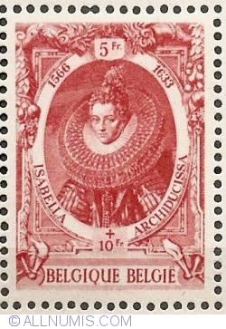 Image #1 of 5+10 Francs 1942 - Isabella Clara Eugenia of Austria