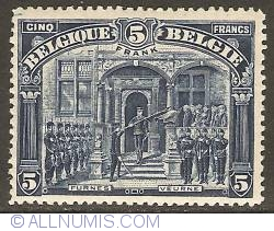 Image #1 of 5 Francs 1919 - Honor to the 7th Regiment, Furnes