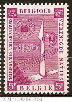 Image #1 of 5 Francs 1958 - UNO - International Telecommunication Union
