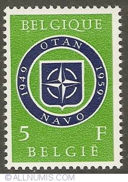 Image #1 of 5 Francs 1959 - 10 years NATO