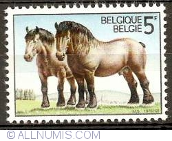 Imaginea #1 a 5 Francs 1976 - Horses of the Ardennes
