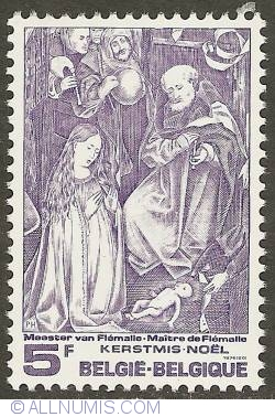 Image #1 of 5 Francs - Nativity, by Master of Flemalle 1976