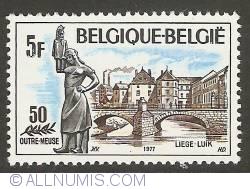 Image #1 of 5 Francs 1977 - Liège - Outremeuse District