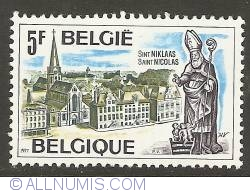 Image #1 of 5 Francs 1977 - St. Niklaas - City View