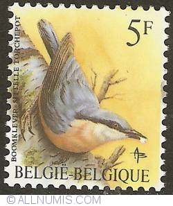 Image #1 of 5 Francs 1988 - Eurasian Nuthatch