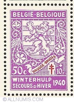 Image #1 of 50 + 10 Centimes 1941 - Brugge