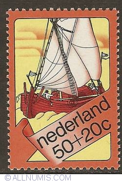 Image #1 of 50 + 20 Cent 1973 - Fishing boat of the Zuiderzee