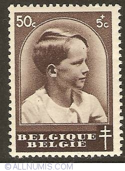 Image #1 of 50 + 5 Centimes 1936 - Prince Baudouin