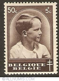 Imaginea #1 a 50 + 5 Centimes 1936 - Prince Baudouin