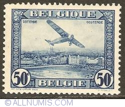 Image #1 of 50 Centimes 1930 - Airmail - Plane above Ostend