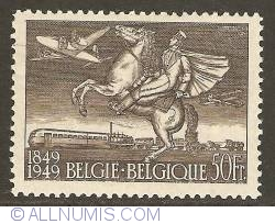 Image #1 of 50 Francs 1949 - Centenary of First Stamp