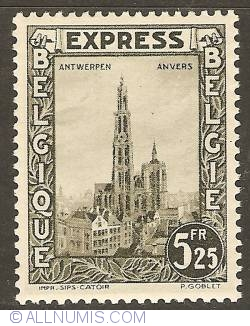 Image #1 of 5,25 Francs 1929 - Express Stamp - Antwerp