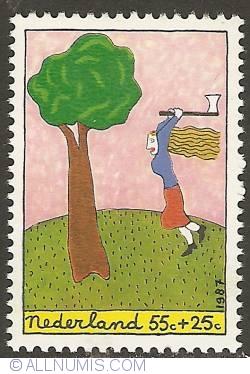 Image #1 of 55 + 25 Cent 1987 - Lumberjack