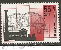 Imaginea #1 a 55 + 30 Cent 1987 - Steam Pump of Nijkerk