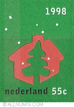 Image #1 of 55 Cent 1998 - December Stamps - Christmas Tree