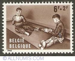 Image #1 of 6 + 2 Francs 1962 - The Handicaped Child - Polio
