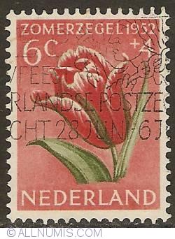 Image #1 of 6 + 4 Cent 1952 - Tulip