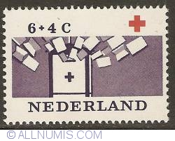Image #1 of 6 + 4 Cent 1963 - Red Cross Library