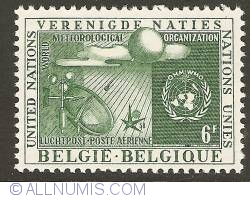 Imaginea #1 a 6 Francs 1958 - Air Mail - World Meteorological Organization