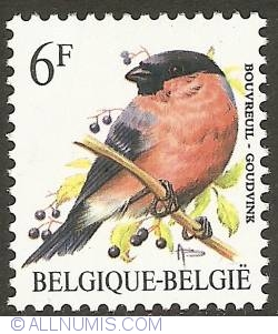 Image #1 of 6 Francs 1988 - Eurasian Bullfinch