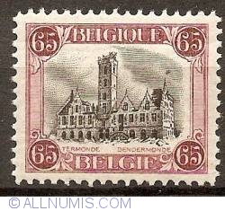 Image #1 of 65 Centimes 1920 - City Hall of Dendermonde