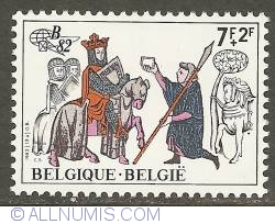 Image #1 of 7 + 2 Francs 1982 - Messenger with Letter for the King