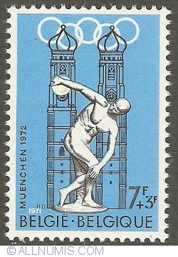 Image #1 of 7 + 3 Francs 1971 - München Olympics