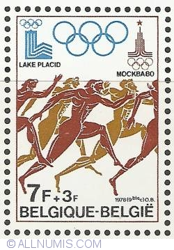 Image #1 of 7 + 3 Francs 1978 - Olympics 1980
