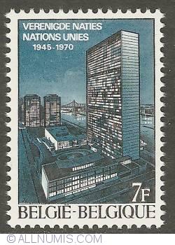 Image #1 of 7 Francs 1970 - 25th Anniversary of U.N.