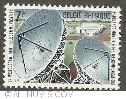 7 Francs 1971 - 3rd World Day of Telecommunication