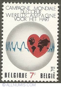 7 Francs 1972 - World Campaign for the Hart