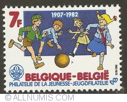 Image #1 of 7 Francs 1982 - 75th Anniversary of Scouting