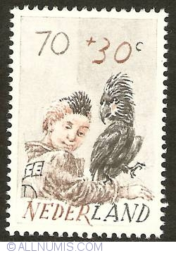 Imaginea #1 a 70 + 30 Cent 1982 - Child and Parrot