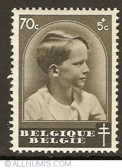 Imaginea #1 a 70 + 5 Centimes 1936 - Prince Baudouin