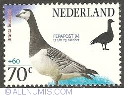 Image #1 of 70 + 60 Cent 1994 - Barnacle Goose