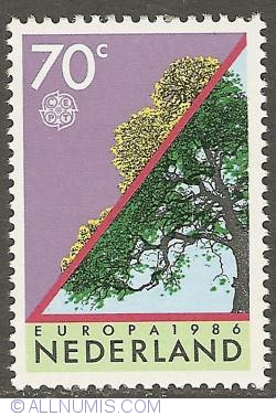 Image #1 of 70 Cent 1986 - Europe - Nature Protection