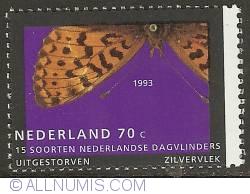 Image #1 of 70 Cent 1993 - Pearl-bordered Fritillary (Zilvervlek)