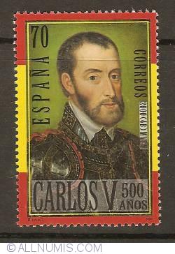 Image #1 of 70 Pesetas 2000 - Charles V