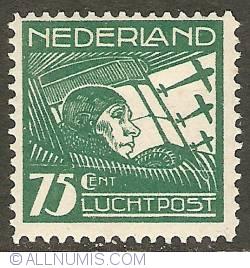 Image #1 of 75 Cent 1928 - Airmail - Pilot A.N.J. Thomassen à Thuessink van der Hoop