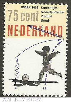 Image #1 of 75 Cent 1989 - Centennial of Dutch Soccer Liga