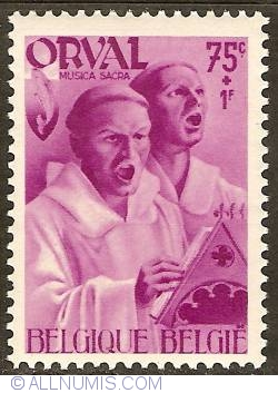 Image #1 of 75 Centimes + 1 Franc 1941 - Orval Abbey - Monks - Sacred Music