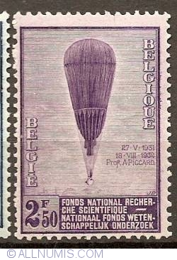 Image #1 of 75 Centimes 1932 - Balloon Piccard