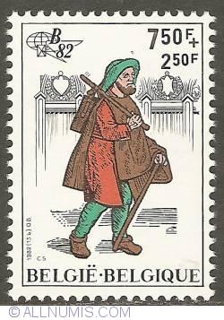 Image #1 of 7,50 + 2,50 francs 1982 - Messenger from Bazel