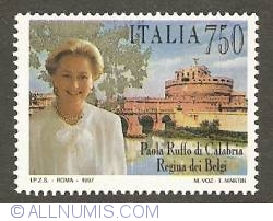 Image #1 of 750 Lire 1997 - Queen Paola of Belgium