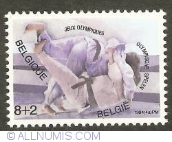 Image #1 of 8 + 2 Francs 1984 - Olympic Games Los Angeles - Judo