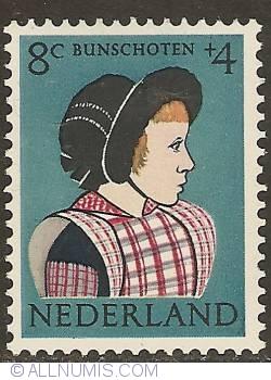 Image #1 of 8 + 4 cent 1960 - Costume of Bunschoten